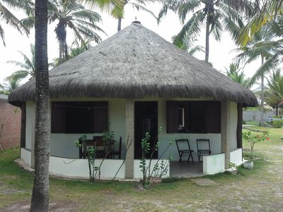 Chalets on an island in the South of Bahia, facing the sea