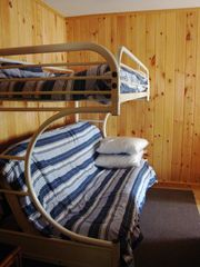 Bath cabin photo - Cabin 2, bedroom with single over double bunks