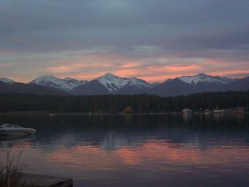 Seeley Lake at sunset