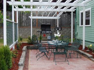 Port Angeles house photo - Outside Dining Area with Duel Fuel Barbeque