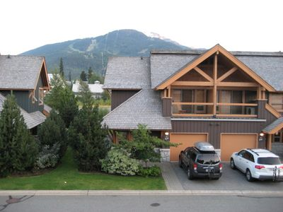 View of Whistler mountain from master bedroom