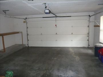 Nice large garage with opener.