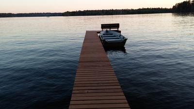Our private pier 50 ft out into the lake.
