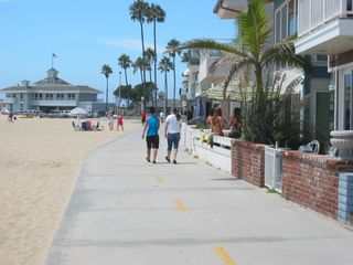 Newport Beach house photo - View looking north from 19th & 'the boardwalk'