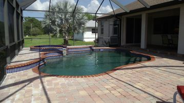 Rotonda West villa rental - Heated pool and spa