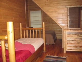 New Buffalo cabin photo - 2nd. of two bedrooms upstairs.