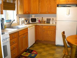 Fully equipped with all supplies, the newly renovated kitchen is a joy