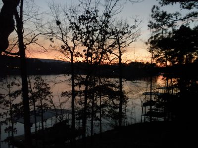 Winter Sunset is Best Viewed from Ark Rm. Pour Some Wine, Stay Inside and Enjoy!