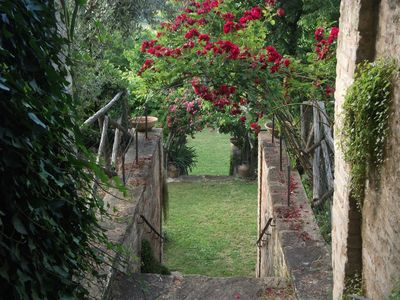 House of the seventeenth century. with  terraced garden and view over endless - La Rosa Scarlatta - The Old Storeroom