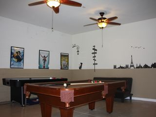 Windsor Hills house photo - Game Room with 46 inch TV, Pool Table, Air Hockey Table & Kids' Play Area