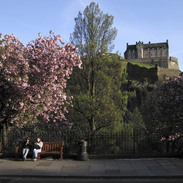 Edinburgh Castle in the spring
