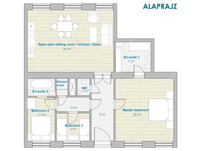 Grand Opera Apartment - Plan
