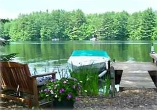 Private Dock with Lakeside Swinging Bench