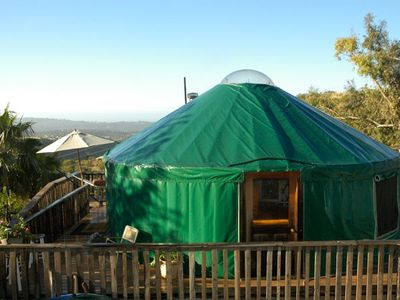 Lalu yurt . 24 ft yurt with view from behind
