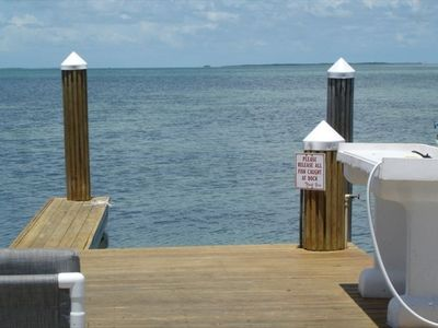 Islamorada townhome rental - Our boat slip