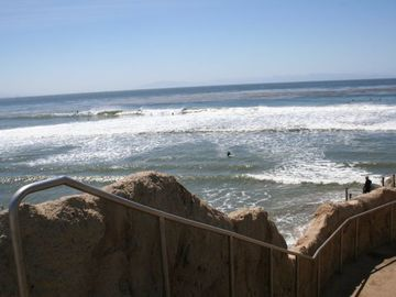 Pleasure Point house rental - Spectacular surf outside your front door.