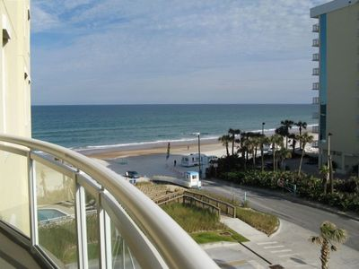 Daytona Beach Shores condo rental - Awesome Balcony View Off Of Living Area!