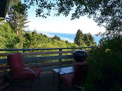 View from the deck - House offers partial ocean view from the upper deck.