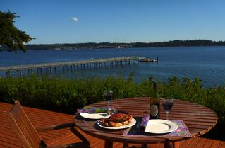 Oak Harbor house photo - Crab Feast on the deck of crab caught right off shore (crabbing season only).