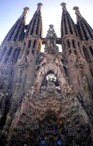 Famous Sagrada Familia.. most Barcelona sights are within walking distance