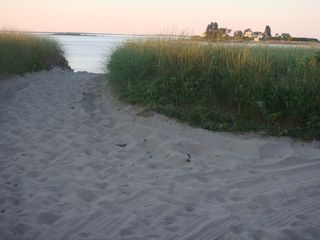 Biddeford cottage photo - Our path leading to the soft sand beach