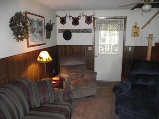Hayward cabin photo - Living Room w/ tv and dvd player and gas fireplace