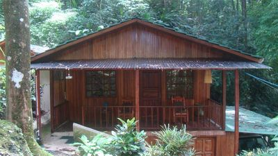 Lovely covered porch for relaxing and enjoying the sights and sounds