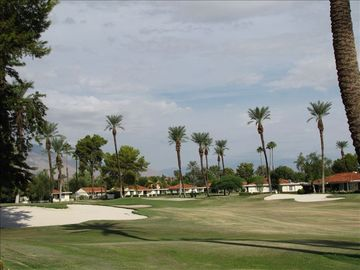 Rancho Mirage condo rental - Beautiful view of golf course and spectacular mountain sunsets!