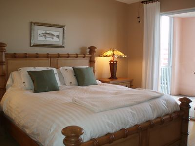 King-sized bed and king-sized view in master bedroom!