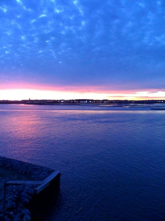 Vacation Homes in Ocean City condo rental - Sunset on a winter night, view from our deck.