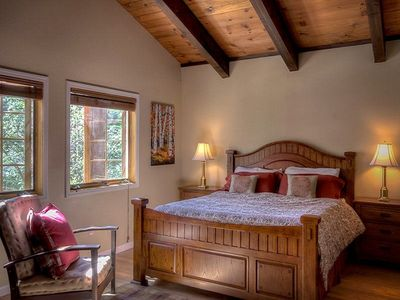 Large Master Bedroom With Vaulted Ceilings