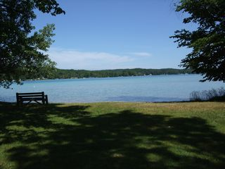 Torch Lake cottage photo - Park / beach across the street