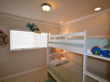Bunk beds each with high end mattress for adults if need be