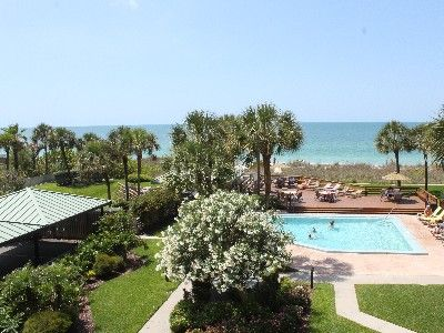 Enjoy this breathtaking view of the beach, gulf and pool from your balcony