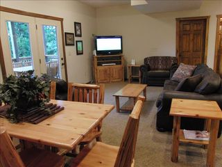Branson cabin photo - Lower Level with Wii Game, Foosball Table and Pool Table