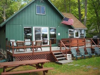 Harrison vacation rental vrbo 479517 4 br long lake for Cabin rentals in maine with hot tub
