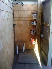 Truro cottage photo - Outside shower-fully enclosed