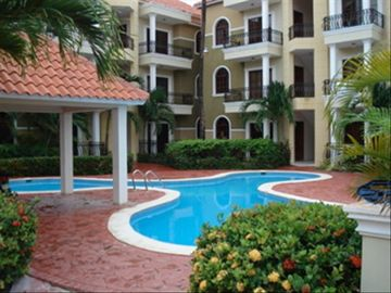 Punta Cana condo rental - Entrance to Santa Maria del Mar & pool #1