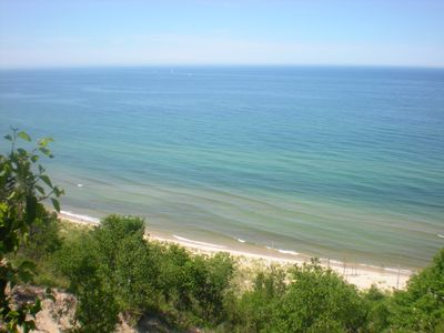 Claybank Township cottage rental - Panoramic views of the lake and beach