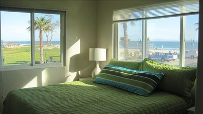 Master Bedroom with view of Beach and City Park