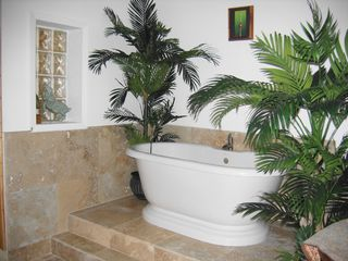 Kailua Kona condo photo - Chromathereraputhic bathtub with ocean view