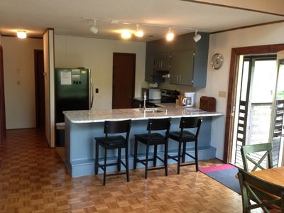Massanutten cabin rental - Main level includes updated open plan living space