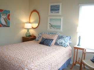 Dauphin Island house photo - Main floor bedroom with queen bed and adjacent bathroom