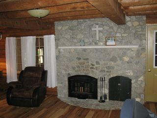 Madison cabin photo - Stone fireplace