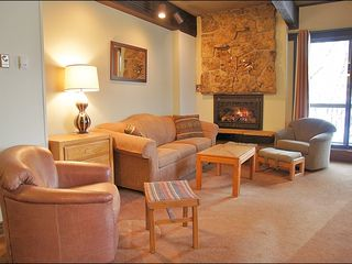 Steamboat Springs condo photo - Warm & Comfy Living Room with Queen Sleeper Sofa
