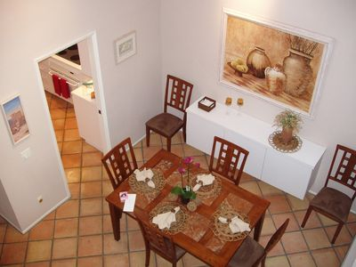 Dining room from upper level