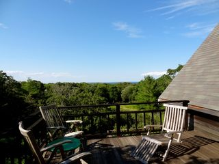 Gayhead - Aquinnah house photo - View of Vineyard Sound, upper deck shared by queen guest room and twin room