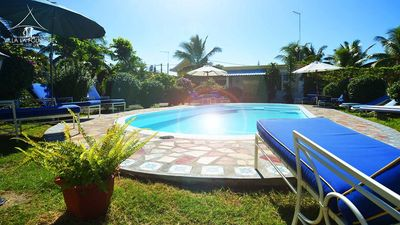 (VILLA LA FOURCHE LTD)BUNGALOW WITH POOL. 2 mn walk to the beach - On the East Coast.