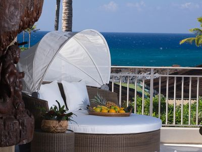CABANA WITH OCEAN VIEWS JUST OFF THE MASTER SUITE!  YOU CAN HEAR THE WAVES!