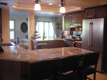 Nipomo house rental - Granite kitchen with stainless steel appliances and wine refrigerator